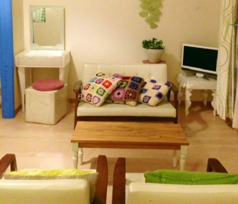 小ぶりな部屋